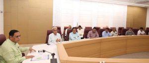 માન. મુખ્યમંત્રી શ્રી વિજયભાઈ રૂપાણી ની અધ્યક્ષતામાં અને નાયબ મુખ્યમંત્રી શ્રી નીતિનભાઈ પટેલની વિશેષ ઉપસ્થિતિમાં ઉચ્ચસ્તરીય બેઠક યોજાઈ.